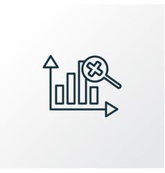 marketing analytics icon line symbol premium vector image