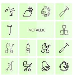 Metallic icons vector