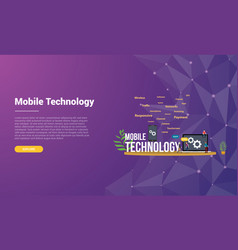 mobile technology concept for website template vector image