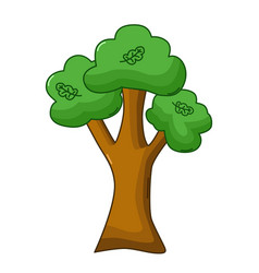 oak tree icon cartoon style vector image