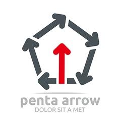 penta arrow design element symbol icon vector image