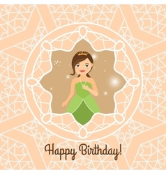 Princess with lights on decorative background vector