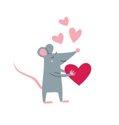 rat male in love vector image