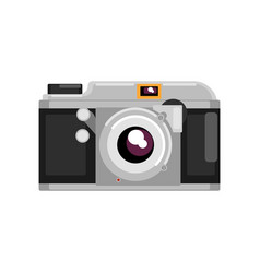 retro photo camera on a white vector image