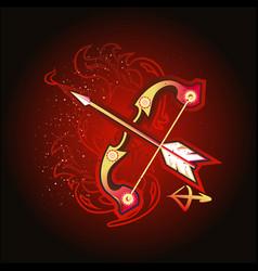 Sagittarius sign horoscope vector