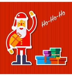 Santa and Presents vector image