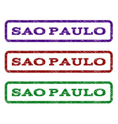 sao paulo watermark stamp vector image