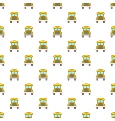 School bus pattern cartoon style vector