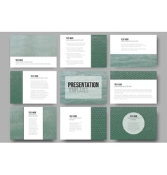 Set of 9 templates for presentation slides Sea vector image