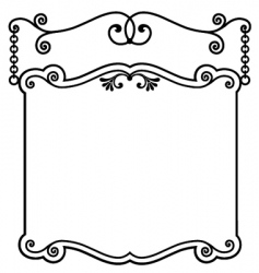 Sign panel white vector