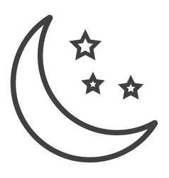 Sleep line icon web and mobile night sign vector