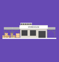 Small storehouse building vector