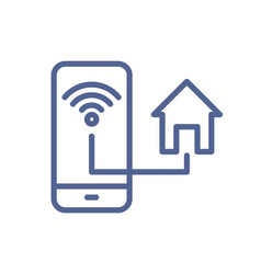 smart home system for house remote control icon vector image