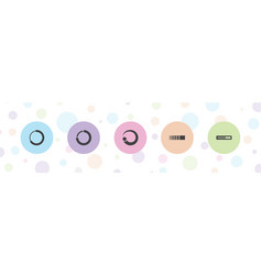 Spinner icons vector
