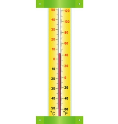 Street thermometer vector