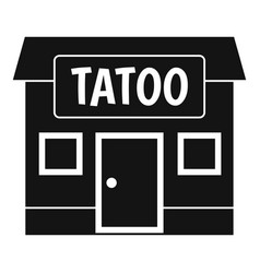 Tattoo salon building icon simple vector