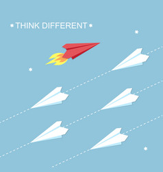 think different concept vector image