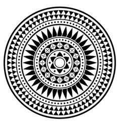 Tribal polynesian mandala design geometric vector