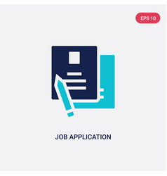 Two color job application icon from human vector