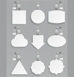 white wobblers blank 3d mockup plastic white vector image