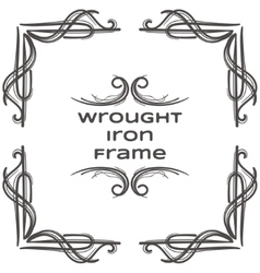 Wrought Iron Frame Nine vector
