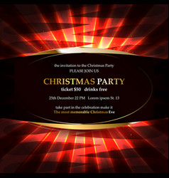 xmas party glowing letters vector image