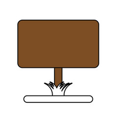 yard sign vector image