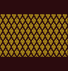 Yellow and brown damask pattern royal oriental vector