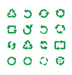 zero waste reuse and recycle symbols vector image