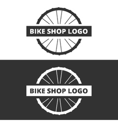 bike shop logo vector image vector image