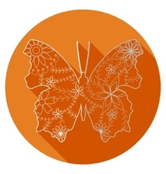 Flat icon of butterfly vector image vector image