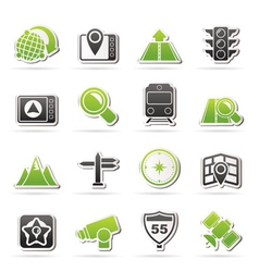 navigation and Location Icons vector image vector image