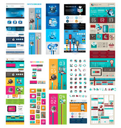 SuperWebTEmplateSET vector image