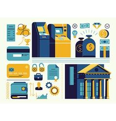 Banking Icon Set vector image