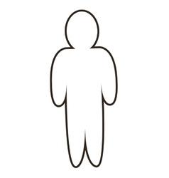 man pictogram icon vector image