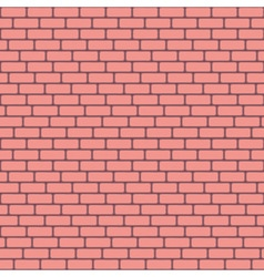Pink brick wall seamless background - texture vector image