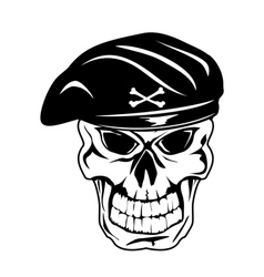 Skull in beret vector