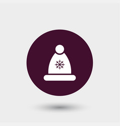 winter hat icon simple vector image