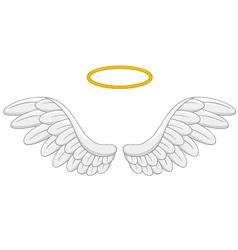 angel wings cartoon vector image