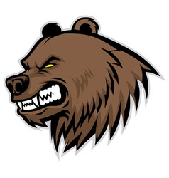 angry bear head mascot vector image