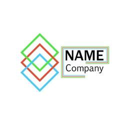 logo company name interlocking squares vector image vector image