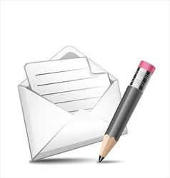 Mail and pen vector image
