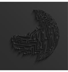 modern black circuit board background vector image