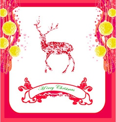 reindeer design abstract Christmas card vector image