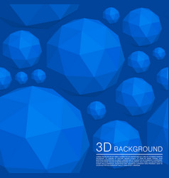 seamless 3d balls polygons vector image vector image