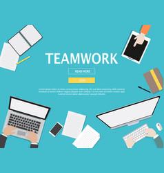 teamwork graphic for business concept vector image vector image