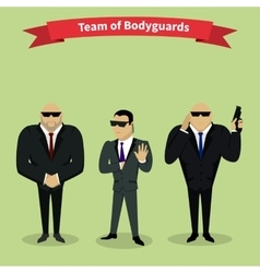 Bodyguards Team People Group Flat Style vector image vector image