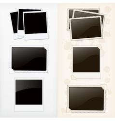 Empty photo frames vector image vector image