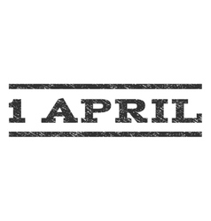 1 April Watermark Stamp vector image