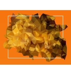 Abstract orange lowpoly background vector